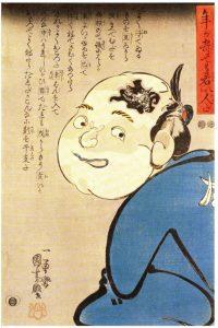 歌川国芳画「年が寄っても若い人だ」